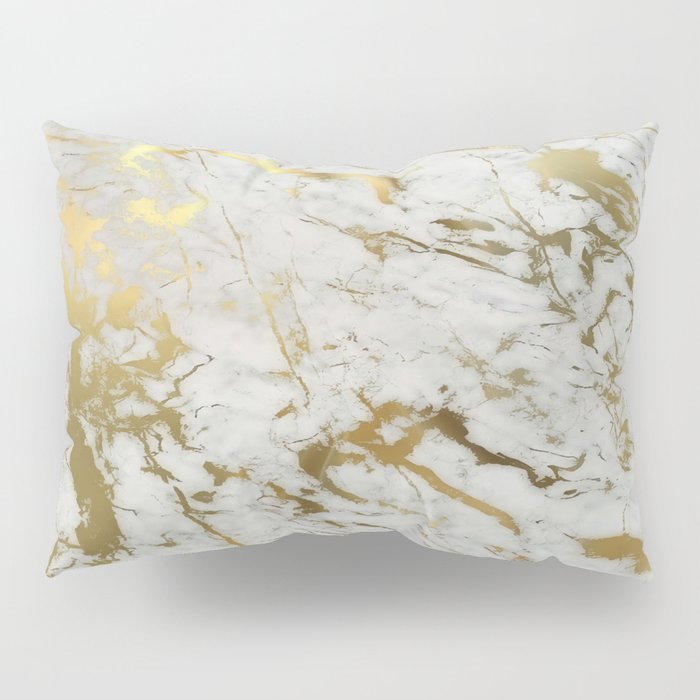 Gold marble Pillow Sham