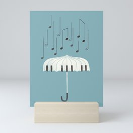 Singing in the rain Mini Art Print