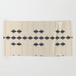 Diamond Stripes Beach Towel
