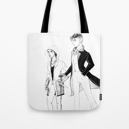 Kaz and Inej Tote Bag