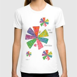 You Are Rainbow flower illustration floral pattern self-love pride T-shirt