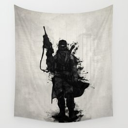 Post Apocalyptic Warrior Wall Tapestry