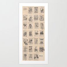 The Dead Alphabet Art Print