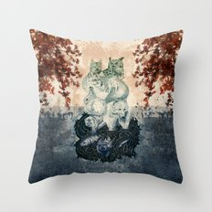 The Forest Folk Throw Pillow