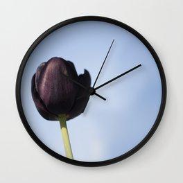 Tulip purple Wall Clock