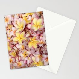 Plumeria Bling Stationery Cards