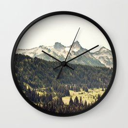 Epic Drive through the Mountains Wall Clock