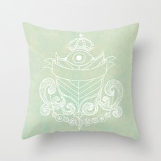 The Evil Eye Emblem  Throw Pillow