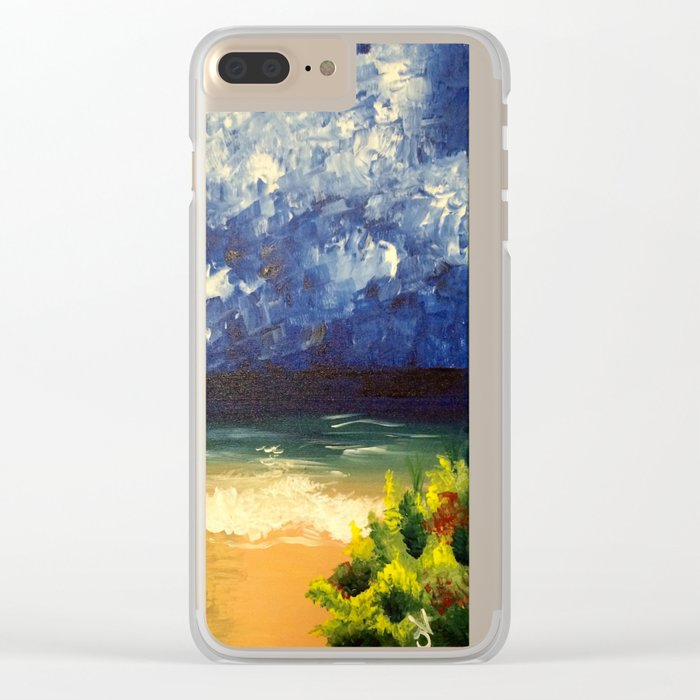 Blue Ocean Clear iPhone Case