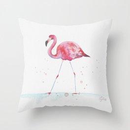 Tropicals: Pink blush flamingo Throw Pillow