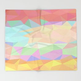 Pink to Gold Prisms Throw Blanket