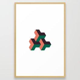 #324 Solid rhythm – Geometry Daily Framed Art Print
