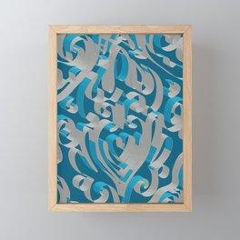 3D Abstract Ornamental Background II Framed Mini Art Print