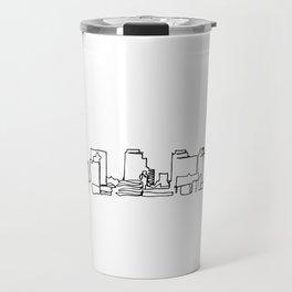 Nashville Skyline Drawing Travel Mug