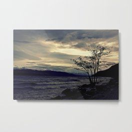 Loch Ness - Beastie Sunset Metal Print