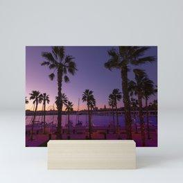 Sunset At Malaga Mini Art Print
