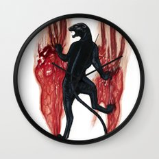 BLACK PANTHER SCRATCH Wall Clock