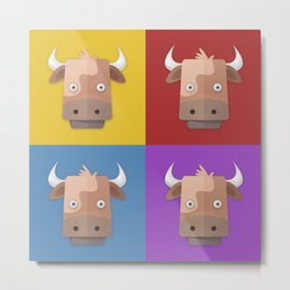 Warhol's Cow Metal Print