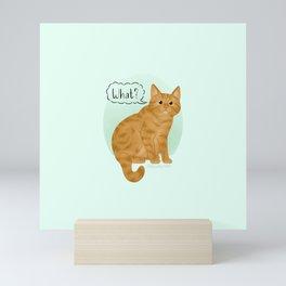 What's New Kitty Cat Mini Art Print