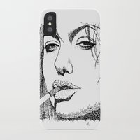 angelina jolie iPhone & iPod Cases featuring Angelina Jolie by The Curly Whirl Girly.