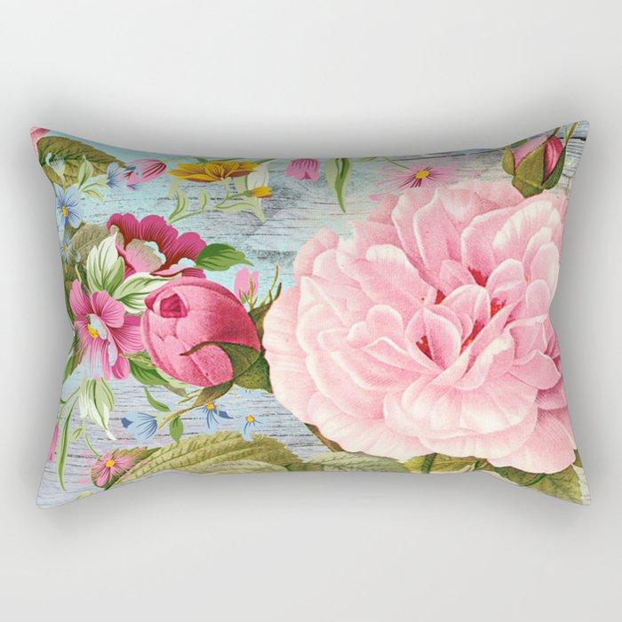 Vintage Flowers #6 Rectangular Pillow