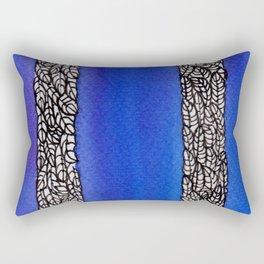 In The Blue Rectangular Pillow