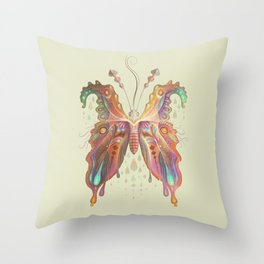 Monarch Butterfly of Spades Throw Pillow