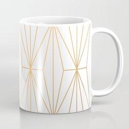 Gold Geometric Pattern Illustration Coffee Mug