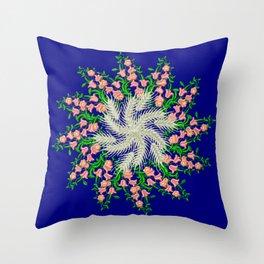 Mandala #103, Wheat, Symbol of Life Throw Pillow