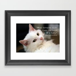What greater gift than the Love of a Cat Framed Art Print