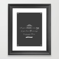 All your dreams Framed Art Print