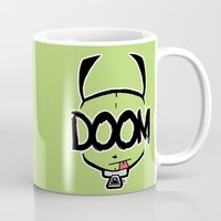 doom Mugs featuring DOOM by Oddworld Art