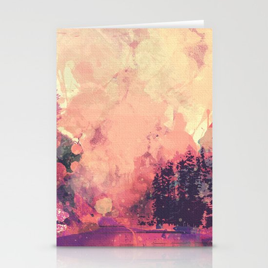 colorful forest Stationery Cards