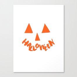 Halloween Smiley Canvas Print