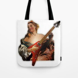 Girl with A Flying V  Tote Bag