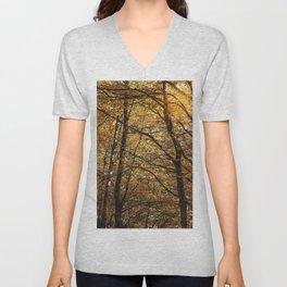 Forest in Autumn time Unisex V-Neck