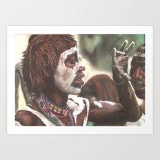 Face Painting Art Print