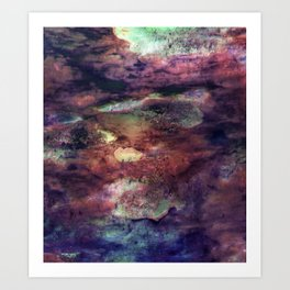 Space Algae Art Print