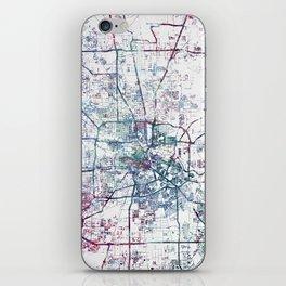 Houston map iPhone Skin