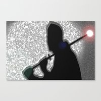 ninja Canvas Prints featuring Ninja by Samual Lewis Davis BMmSt CQU