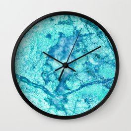 Turquoise Marble Wall Clock