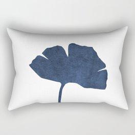 Ginko leaf blue navy Rectangular Pillow