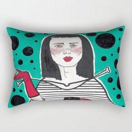 Asian Classic Lady (#2 Asian Smoker series) Rectangular Pillow
