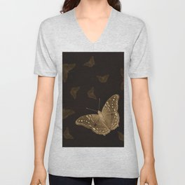 Butterflies in the dark Unisex V-Neck