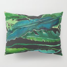 tropical nature compilation at nigth Pillow Sham