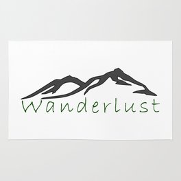 Wanderlust mountains Rug