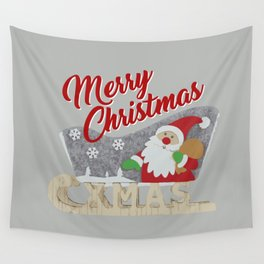 Santa Claus with sled Wall Tapestry
