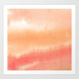 Peachy Art Print