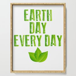 Earth Day Every Day Recycling Save The Planet Eco Serving Tray