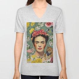 Frida Kahlo X Unisex V-Neck